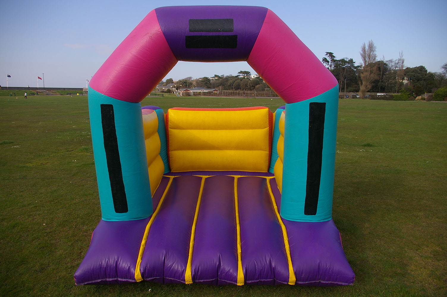 Being our smallest bouncy castle, the Mini fits into most small spaces! So if you're worrying that your garden or hall is too small, this could be your answer. Suitable for children up to 5 years.