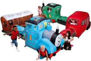 Come join Thomas, Bertie, Percy & Clarabel for a fun adventure! Perfect for children under 8 years, they can crawl through the carriages of our friends and keep cool with the air blowing throughout, which is ideal for outdoor parties in the summer months.