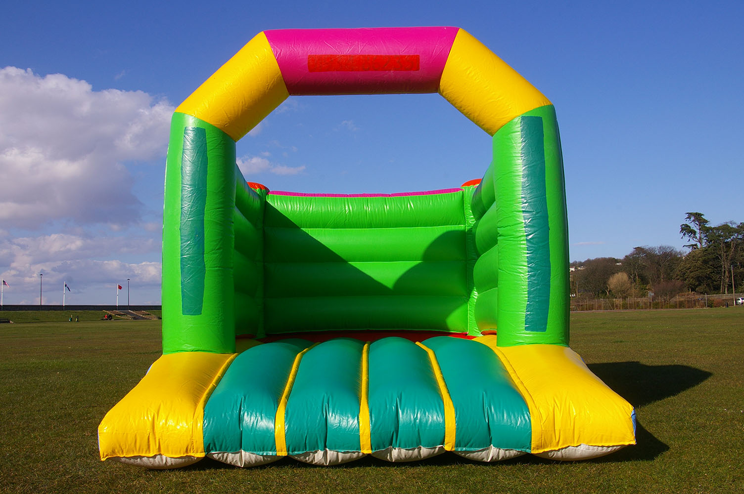 This is one of our smaller bouncy castles which is ideal for smaller gardens or halls. It's super bouncy and customisable with banners to give your event a special theme. Suitable for children up to 11 years.